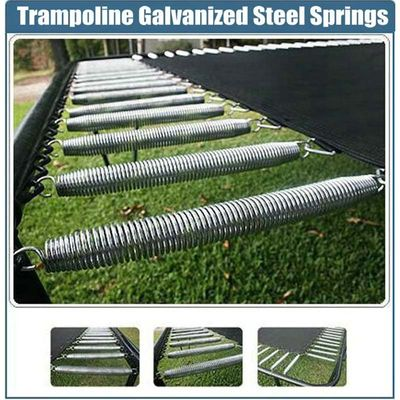 Trampoline Replacement Galvanized Steel Springs With Free Installation Tool 120/130/135/140(mm) Length For Available