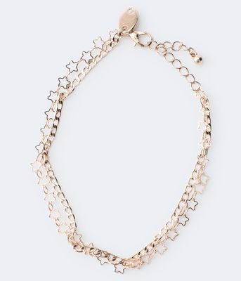 Aeropostale Double-Strand Star Anklet