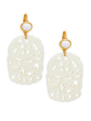 Kenneth Jay Lane Couture Collection Resin Cut-Out Drop Earrings