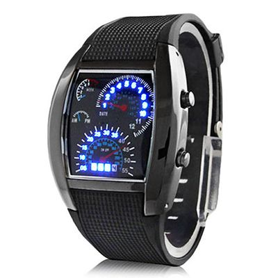 Men's Stainless Steel Sports Watch Analog LED Wrist Watch Silicone Watches