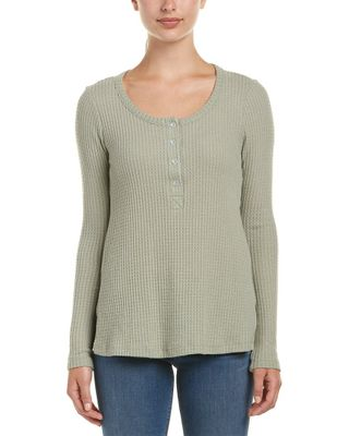 Audrey 3+1 Waffle-Knit Top