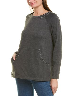 Max Studio French Terry Pocket Pullover
