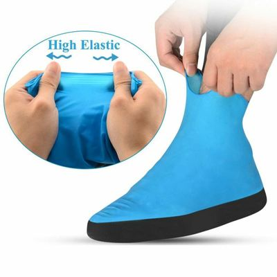 1Pair Portable Shoe Cover Thick Sole Foot Wear Reusable Anti Rain Emulsion Elastic Cycling Travel Outdoor Accessories Protective