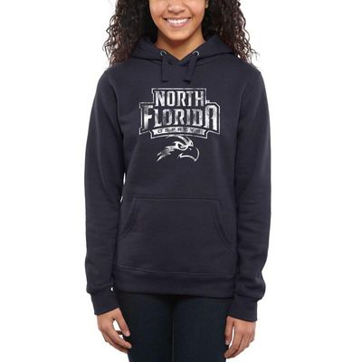 UNF Ospreys Womens Classic Primary Pullover Hoodie - Navy Blue