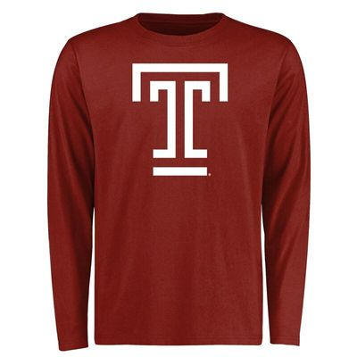 Temple Owls Big & Tall Classic Primary Long Sleeve T-Shirt - Cardinal