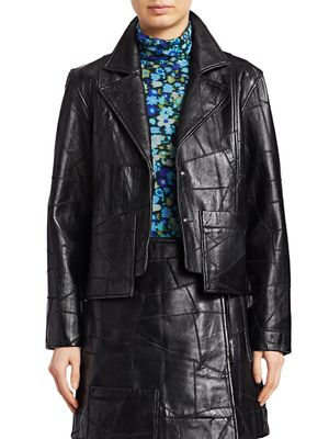 Ganni Patch Leather Jacket
