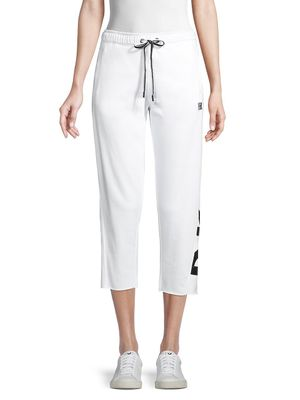 DKNY Sport Cropped Cotton-Blend Jogger Pants