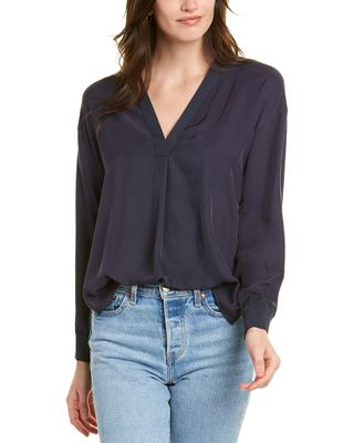 Vince Ribbed Trim Top