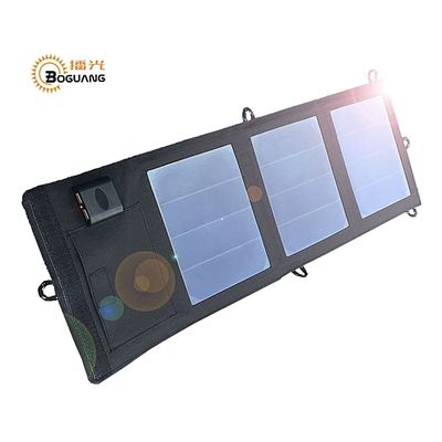 Boguang Folding Foldable Waterproof Solar Panel 6v/12w 2A Solar Dual USB Port Portable Solar Power Panel Cell Phone Charger