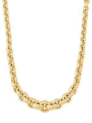 Saks Fifth Avenue Made in Italy 14K Yellow Gold Graduated Rolo Chain Necklace/18In