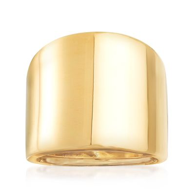 Ross-Simons Italian 14kt Yellow Gold Wide Polished Ring