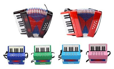 Free shipping!17keys 8Bass beginner children's enlightenment accordion instrument Educational kids' Accordion(6 colors optional)