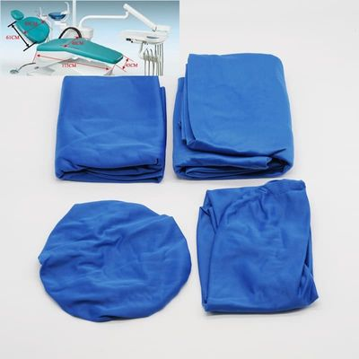 Dental Chair Cover Protector Blue Washable Elastic Cotton For Dentist Lab