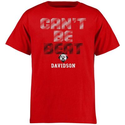 Davidson Wildcats Youth Can't Be Beat T-Shirt - Red