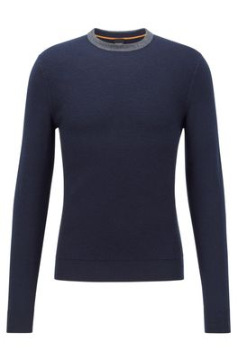 HUGO BOSS - Structured Front Sweater In Cotton And Wool