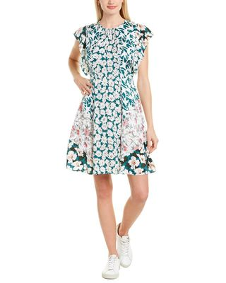 Rebecca Taylor Serene Fleur Silk-Blend Mini Dress