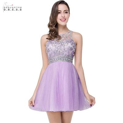 New Arrival Lovely Crystals Homecoming Dresses Draped Sexy Transparent Back Short Party Dresses Vestido De Festa Curto