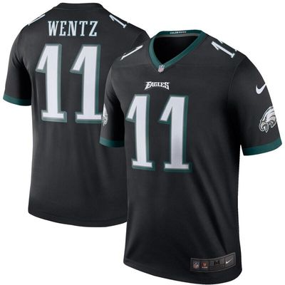 Carson Wentz Philadelphia Eagles Nike Color Rush Legend Jersey - Black