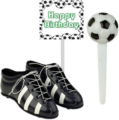 Soccer Cleats & Ball Cake Decoration Topper