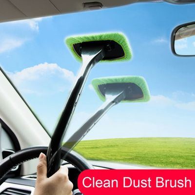 Car Washing Brush Soft Microfiber Window Cleaner Long Handle Dust Brush Windshield Cleaning Brush Dirt Dust Clean Brushes #PY10