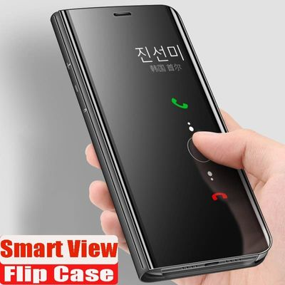 Luxury Shockproof Smart View Flip Case For Samsung Galaxy S10e S8 S9 Plus Note 8 9 A10 A20 A7 A8 2018 A50 A70 A30 Silicone Cover