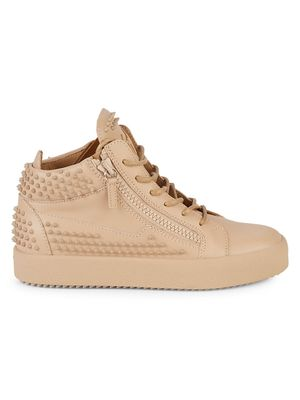 Giuseppe Zanotti Studded Leather Mid-Top Sneakers