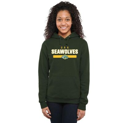 Alaska Anchorage Seawolves Womens Team Strong Pullover Hoodie - Green