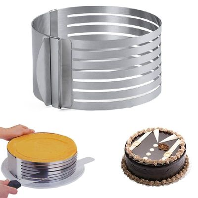 Adjustable Mousse Ring 3D Round Cake Molds Layered Cake Slicer Cutter Stainless Steel Baking Moulds Dessert Cake Decorating Tool