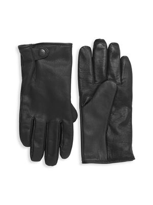 UGG Faux Fur-Lined Leather Smart Gloves
