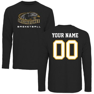 Wisconsin-Milwaukee Panthers Personalized Basketball Long Sleeve T-Shirt - Black