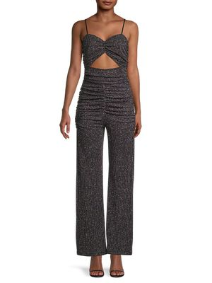 For Love & Lemons Cutout Glitter Jumpsuit
