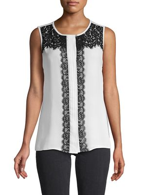 Karl Lagerfeld Paris Sleeveless Lace Top