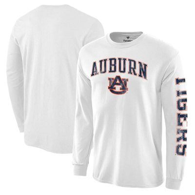 Auburn Tigers Distressed Arch Over Logo Long Sleeve Hit T-Shirt - White