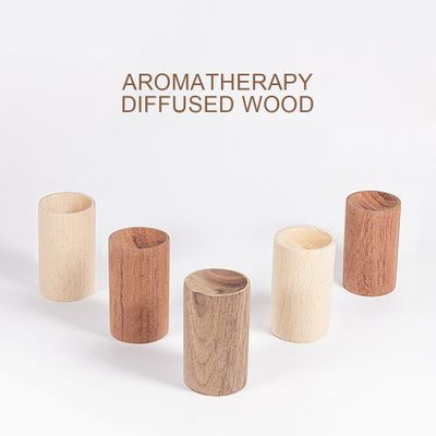 Wooden Aroma Essential Oil Diffuser Portable Car Fragrance Oil Diffuser Incense Sleep Aid Stress Relief for Office Home SPA