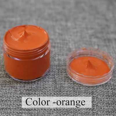 30ml Orange Leather Paint for Painting Leather Bag,sofa, Shoes and Clothes Free Sponge and Gloves Ac