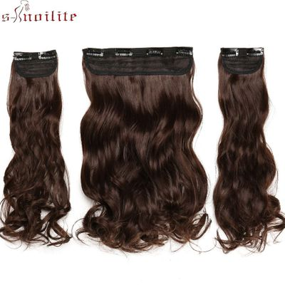 BENEHAIR Clips In Hair Extensions Hair Long Curly Synthetic Hairpieces For Women Extension Hair Clips Fake Hair Heat Resistant