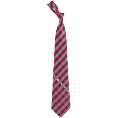North Carolina State Wolfpack Woven Checkered Tie - Red/Black