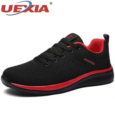 UEXIA Fashion Mesh Men Casual Shoes Lac-up Lightweight Outdoor Comfortable Breathable Walking Sneakers Tenis Feminino Zapatos