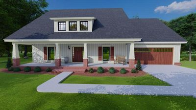BLUE HOUSE PLANS - BHP-2006: 3 BED, 2 BATH, CRAFTSMAN STYLE WITH A 2 CAR ATTACHED FRONT LOAD GARAGE