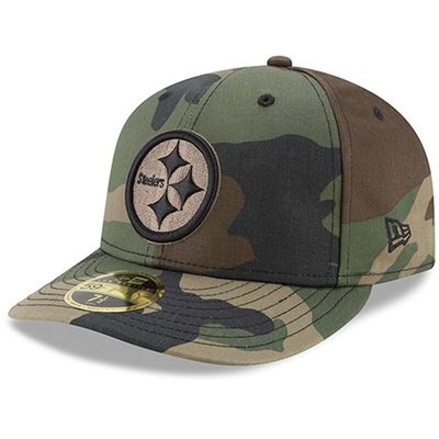 Pittsburgh Steelers New Era Woodland Camo Low Profile 59FIFTY Fitted Hat