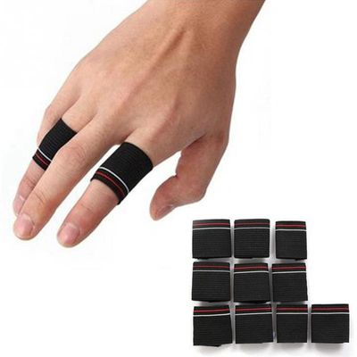 10pcs Sport Finger Splint Guard Bands Finger Protector Guard Support Stretchy Sports Aid Band Basketball