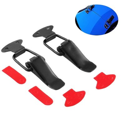 2Pcs Auto Universal Bumper Security Hook Lock Clip Kit Clip Hasp For Racing Car Truck Hood Quick Release Fasteners