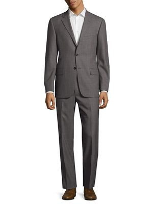 Hickey Freeman Classic Fit Textured Plaid Wool Suit
