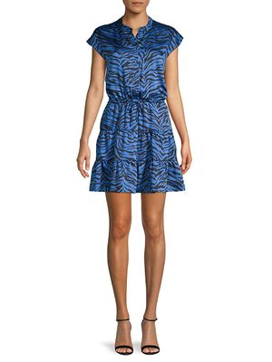 Rebecca Minkoff Zebra-Print Mini Dress