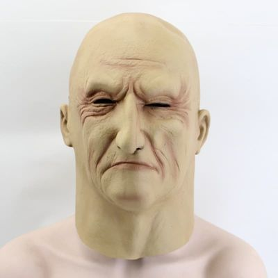 Newly Design Wholesale Adult Size Old Man Mask Cosplay Full Head costume Latex Mask Masquerade Carnival Mask
