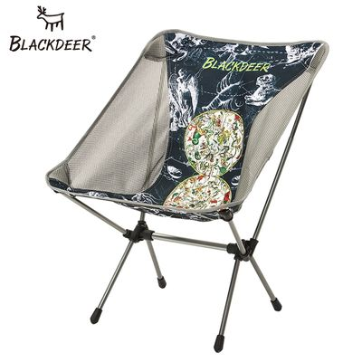 BLACKDEER Portable Ultralight Chair Folding Fishing Stable Camping Chair Aluminium Alloy Seat for Hiking Outdoor Trip 0.95kg
