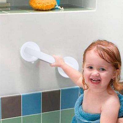 Bathroom Suction Cup Handle Grab Free Installation Suction Cup Handrail for Glass Door Bathroom Office elderly Safety