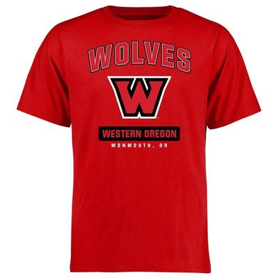 Western Oregon Wolves Campus Icon T-Shirt - Red