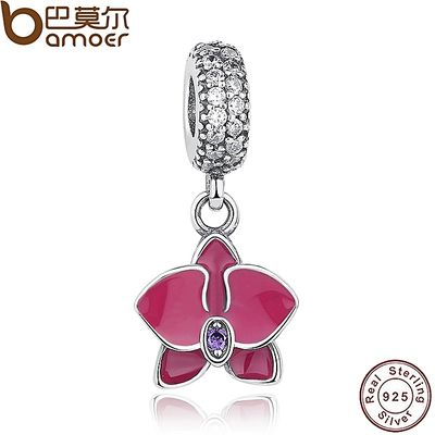 925 Sterling Silver Radiant Orchid Snowflake MOM Daisy Pendant Beads Fit Charm Bracelet Jewelry Accessories