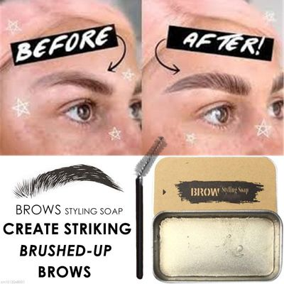 3D Feathery Brows Makeup Balm Styling Brows Soap Kit Lasting Eyebrow Setting Gel Waterproof Eyebrow Tint Pomade Cosmetics
